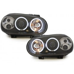 headlights VW Golf IV 97-04_2 CCFL halo rims_black