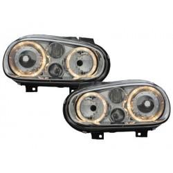 Lot 2 headlights vw golf iv 97-04_2 halo rims_chrome