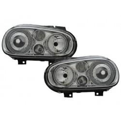 Lot 2 phares VW Golf IV 97-04_2 halo rims_chrome