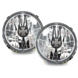 Lot 2 headlights vw golf i 74-83 iron cross cap_lens clear