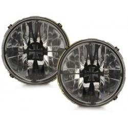 Lot 2 headlights vw golf i iron cross_lens clear