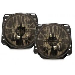 Lot 2 headlights vw golf ii iron cross_lens black and chrome