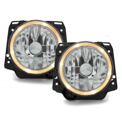 Lot 2 headlights vw golf ii 83-93_halo rims_chrome