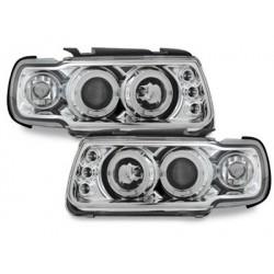 Lot 2 phares VW Polo 6N 95-98_2 halo rims_chrome