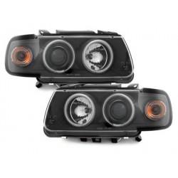LOT 2 PHARES VW Polo 6N 95-98_2 CCFL halo rims_ Noir