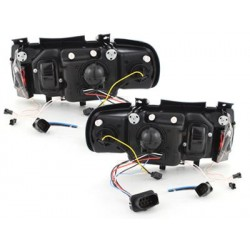 Lot 2 headlights vw polo 6n 95-98_2 ccfl halo black rims_