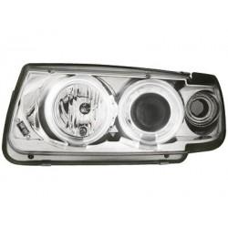 Lot 2 phares VW Polo 6N 95-98_2 CCFL halo rims_chrome