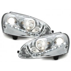 DECTANE headlights VW Golf V daytime running light_HID_chrome