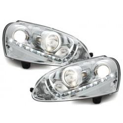 Lot 2 headlights Dectane VW Golf V daytime running light_hid_chrome