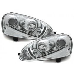 DECTANE headlights VW Golf V daytime running light_HID_chrome