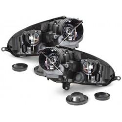 Lot 2 headlights vw golf v 03-07_gti look_black