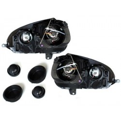 Lot 2 phares DECTANE DRL look VW Golf V 03-09_drl optic_black