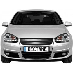 Lot 2 drl headlights Dectane look vw golf v 03-09_drl optic_black