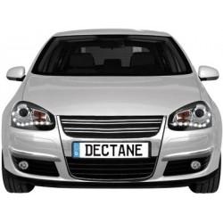 Lot 2 phares DECTANE DRL look VW Golf V 03-09_drl optic_black