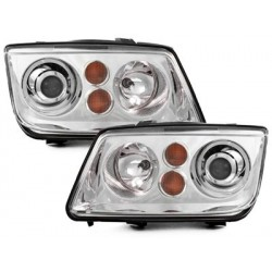 Lot 2 headlights vw bora _ 98-05 _ chrome look xenon