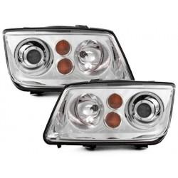 Lot 2 phares VW Bora 98-05 _ Xenon look _ chrome
