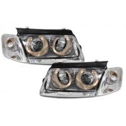 headlights VW Passat 3B 96-00_2 halo rims_chrome