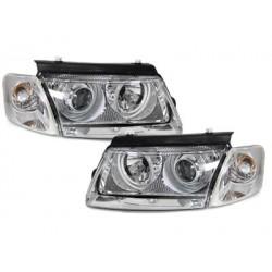 Lot 2 phares VW Passat 3B 96-00_2 halo rims_chrome