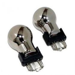 2 x ampoules de clignotant chrome PY21W - Ergots BAU15S