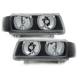 Set of 2 headlights VW Passat 35i b4 93-96_2 halo rims_black