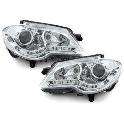 LOT 2 PHARES DECTANE DRL look VW Touran 1T_GP 06-10_drl optic Chrome