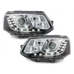 Lot 2 drl headlights Dectane look vw t5 03-09_drl optic_black