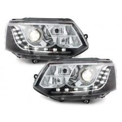 DECTANE DRL look headlight VW T5 03-09_drl optic_black