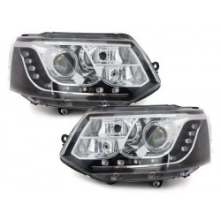 LOT 2 PHARES DECTANE DRL look VW T5 03-09_drl optic_black