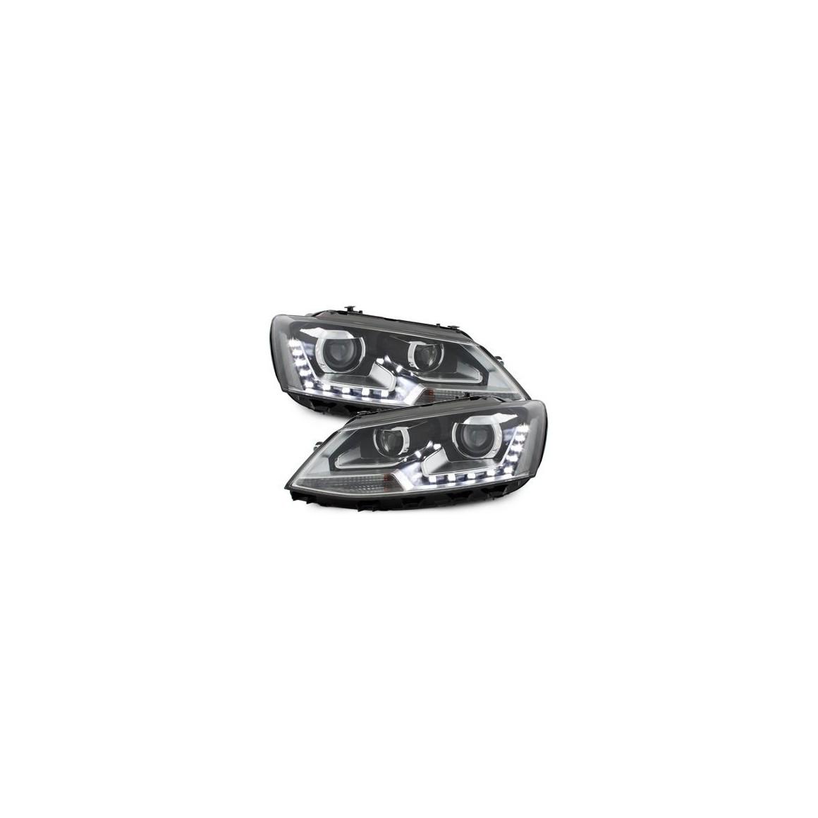Lot 2 phares DECTANE VW Jetta 6 DRL 11-13 black