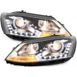 Lot 2 headlights Dectane VW Jetta 6 11-13 drl black