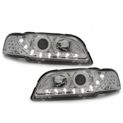 Lot 2 drl headlights Dectane look volvo s / v40_drl optic_chrome