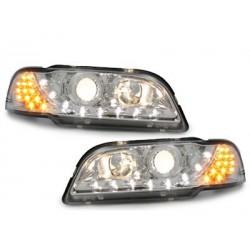 DECTANE DRL look headlight Volvo S/V40_drl optic_chrome