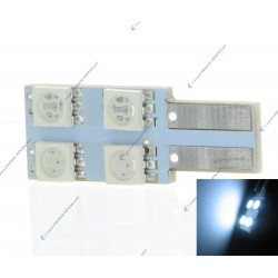 Lampadina 4 SMD oneside bianco puro - T10 W5W