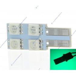 AMPOULE 4 SMD ONESIDE Vert - T10 W5W