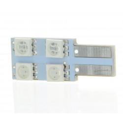 BULBO 4 SMD ONESIDE Azul - T10 W5W