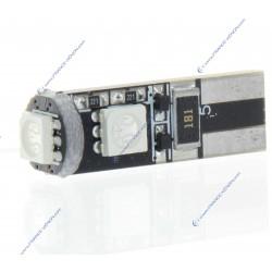 Lampadina 3 LED SMD Canbus blu - T10 W5W