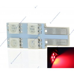 AMPOULE 4 SMD ONESIDE rojo - T10 W5W