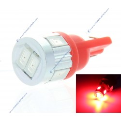 BULB 6 LED SG - W5W - RED