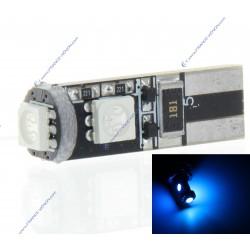 AMPOULE 3 LEDS SMD CANBUS BLEU - T10 W5W