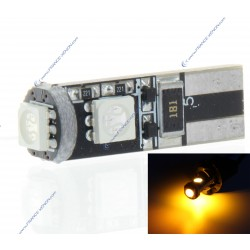 BULB 3 LEDS SMD CANBUS AMBER - T10 W5W