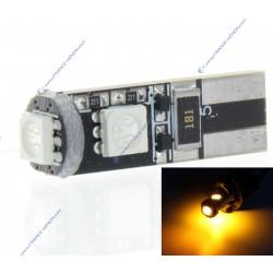 LAMPADINA 3 LEDS SMD CANBUS ARANCIONE - T10 W5W