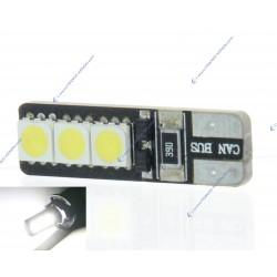 2 x BOMBILLAS 5 LEDS weiß - LED SMD - 5 LED - T10 W5W