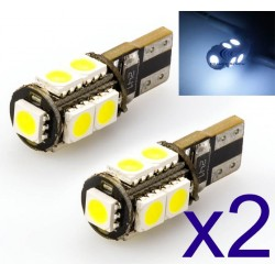 2 x BULBS 9 LED SMD CANBUS - T10 W5W