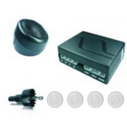 Radar de recul 4 capteurs blanc - buzzer