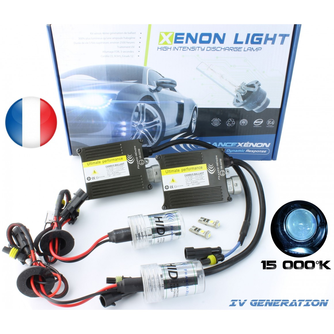 HID Conversion XENON KIT H7 - 15,000 K - Slim Ballast