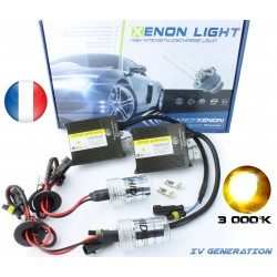 HID Conversion XENON KIT H7 short bulb - 3000 K Yellow - Slim Ballast