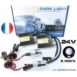 Einzelne H4 Xenon - 6000 ° K - normale Vorschaltgerät 24V - LKW