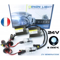 Einzelne H4 Xenon - 8000 ° K - normale Vorschaltgerät 24V - LKW