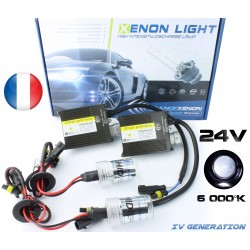 H4 simple xénon 75W - 6000°K - 24V Ballast normal - camion