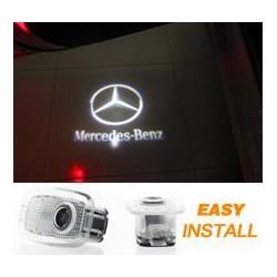 2x Logo Coming Home Mercedes Classe A W169, Classe M W164, GL X164, SL C197, Classe C W204, GLK X204, E W212 - MERCEDES